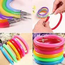 Fashion Charm 10pcs Plastic Men Bracelet & Bangle Mixed Color Pen Write For Women Jewelry Christmas Children Magical Gift Party