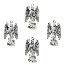 Buy 10pcs Antique Silver Angel Charms Alloy Jewelry Accessories Women Diy Angel Charms Bracelet Necklace Pendant 26*17mm for $2.24 in AliExpress store