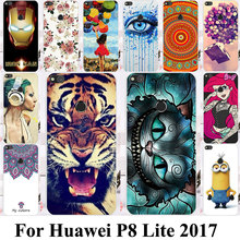 Silicone Plastic Phone Case For Huawei P8 Lite 2017 Huawei P9 Lite 2017 Honor 8 Lite Nova Lite GR3 2017 Cat Tiger Housing Cover