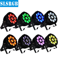 8pcs/lot 6-in-1 RGBWA+UV 9*18W DMX 512 outdoor led flat par outdoor Led par IP 65 LED Par Light/LED Slim Par/DJ Effect Light