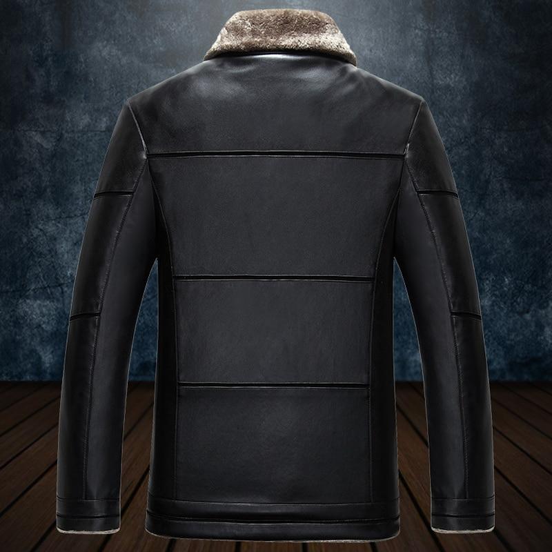 High Quality Business Men Faux Fur Jackets Plus Size Big Mens Clothing Free Shipping Male Mens Fur Collar Coat Jacket 4XL C756