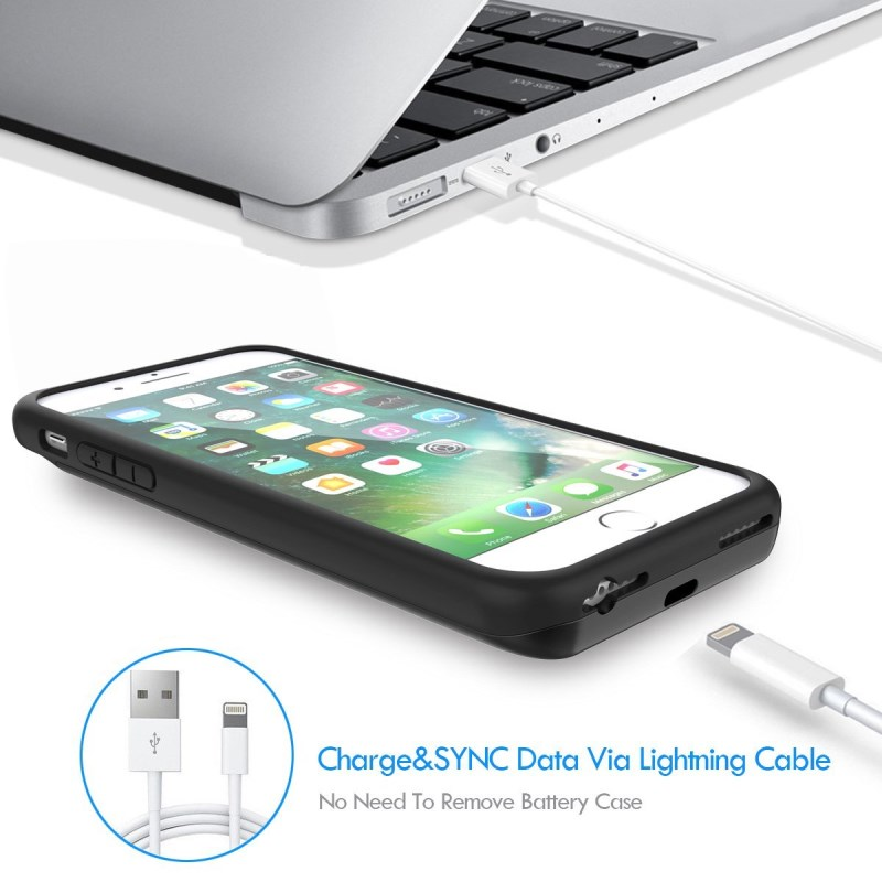 Power case for iPhone 7 Battery Charger Case For iPhone 6 6Plus Power Bank Case Ultra thin Case for iPhone External Backup Battery Charging Phone Case for iphone (4)