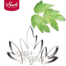 BXG185 Metal Stainless Steel Tools Peony Flower Leaves Cutters Set Home Furnishing Products Kitchen Baking Supplies