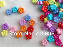 "Free Shipping--400pcs DIY Flower Button,Baby Shower Table Decoration,children's ""Rainbow"" themed party"