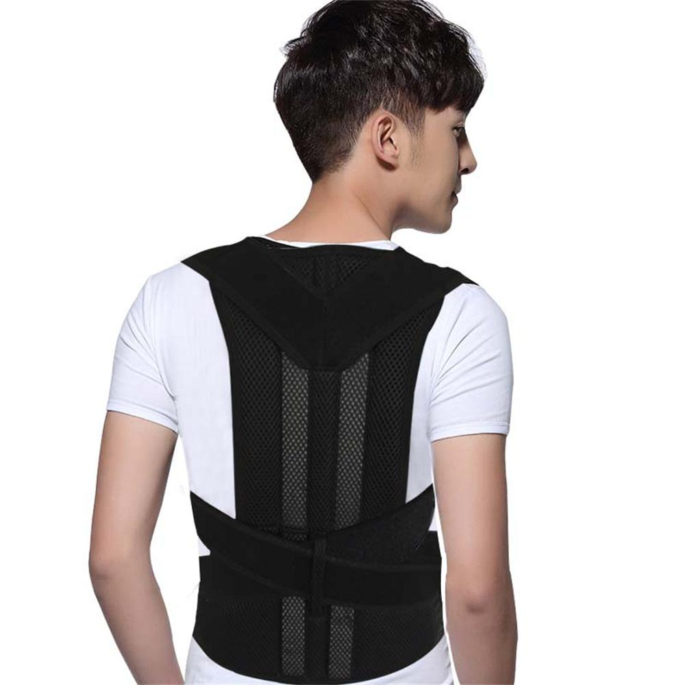 New Breathable Shoulder Back Support  Relieve Lower Back Pain Straighten Back Posture Corrector Gentle Adjustable Belt<br>