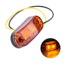 4PCS/Set 2 LED Auto Car Truck Trailer Caravan Side Marker Light Clearance Lamp 12V 24V 100% Brand New High Quality(China)