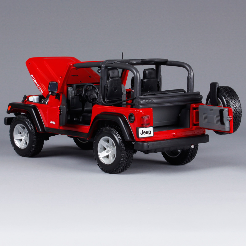 1:18 Scale in Red Maisto Die-cast Model Jeep Rubicon