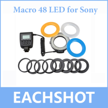 Travor Macro LED Ring Flash Light /Speedlite 48 LED for Sony Alpha A37 A57 A67 A77 NEX7