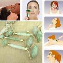 New Jade Facial Massage Roller Anti Wrinkle Healthy Face Body Head Foot Nature Beauty Tools 1pc Massage Roller Facial Jade Stone