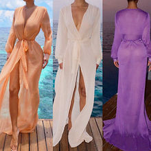 Sexy Cover-Ups 2017 Fashion Womens Boho Chiffon Kimono Shirt Cardigan Long Beach Cover Up Dress Tops