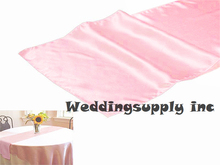 20 PINK Cheap Satin Table Runner Luxury for Wedding Table Linen GOOD QUALITY/Table Decoration free shipping