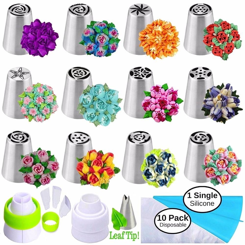 geekoplanet.com - CakeFreak™ - Flower-Shaped Frosting Nozzles