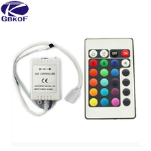 Good 24 key IR RGB remote controller and IR receiver for 3528 5050 RGB led strip Promotion Free shipping