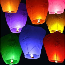 1510 Diy 20 Pcs Chineses Sky Paper Lanterns Lamps Flying Wishing Lantern For Outdoor Party Decoration Balloon casamento  mix Col