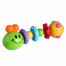 Hot Sale Cute Dog Animals Plastic Baby Toys Hand Jingle Shaking Bell Rattle Toddler Music Christmas Birthday Toy for Kids(China)