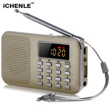 Professional Radio FM Music Player Stereo Speaker PC Mobile Phone LCD Screen TF Card USB AUX Flashlight Radio FM Loudspeaker(China)