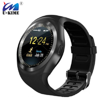 U-KIME Y1 Smart Watch Business Round Anti-Lost Support Nano SIM TF Card With Whatsapp Facebook Sports Smartwatch For IOS Android