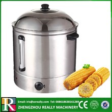 Temperature adjustable electric big steamer for sweet corn, sweet potato, yam