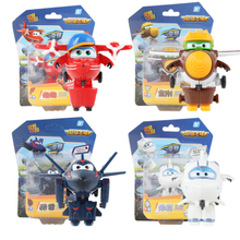 4pcs /Set Season 3 Super Wings Mini Airplane Robot baby toy Action Figures Super Wing Transformation Animation for Children Gif