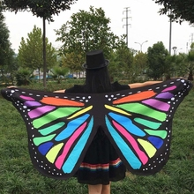 FB 27 Fairy Store Hot Selling Fast Shipping Fashion  Soft Fabric Butterfly Wings Fairy Ladies Nymph Pixie Costume Accessory