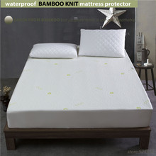 140x200cm 1.4m waterproof Beautiful Bamboo Jacquard mattress Protector jacquard cloth100% Waterproof  W009