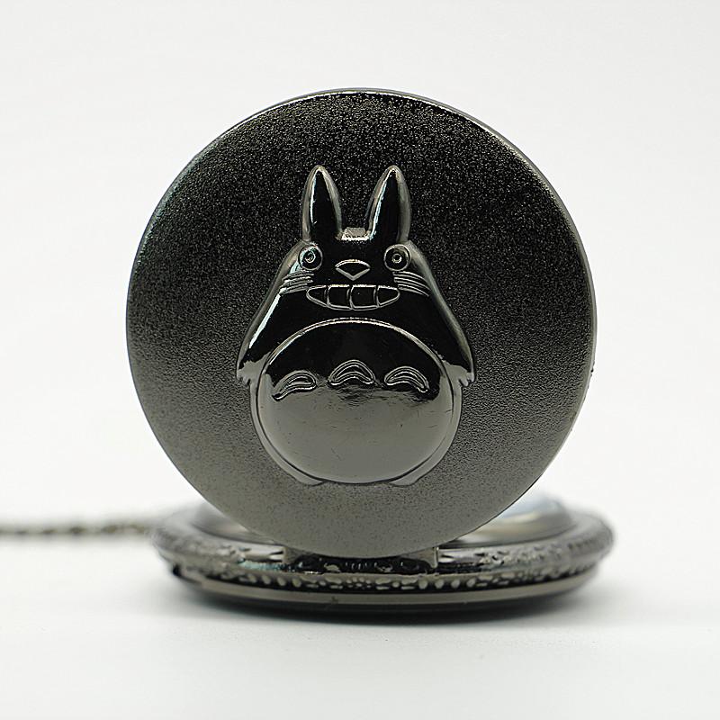 New-Antique-Black-Japanese-Anime-Totoro-Quartz-Pocket-Watch-Necklace-Pendant-Christmas-Gift-Clock (2)