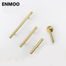 Brass Furniture Cabinet Knobs and Handles Simple Gold Handles Drawer Pulls for Furniture Solid Copper Single handles CT06