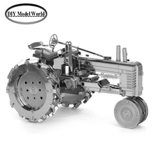 FARM TRACTOR model kit laser cutting 3D puzzle DIY metallic car model jigsaw free shipping best gifts for kids educational toys