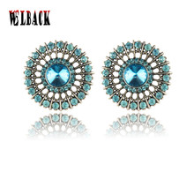 2016 new  women jewelry fashon gift crystal Alloy Earrings sports fan earrings Accessories Souvenirs