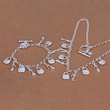 Silver plated jewelry sets, sterling-silver-jewelry jewelry set High Heels & Purse /KERDICHW 0