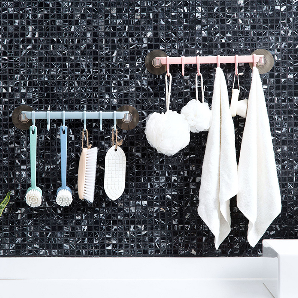 Home Hook Nail-free Strong Self Adhesive Kitchen Wall Seamless Bathroom 6A