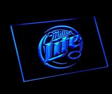jb-67  Miller Lite Beer Displays logos LED Neon Light Sign home decor crafts