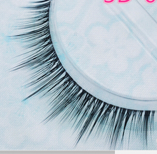 1 pairs 3D Handmade natural long Charming Black False Eyelashes Designer Makeup Human Hair Eyelash(China)