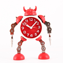 Transformers alarm clock kids Children's cartoon table clock metal robot alarm watch despertador reveil wekker