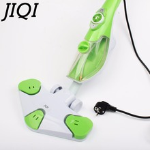JIQI 6 in 1 Reusable Microfiber Handheld Steam mop high temperature sterilization sweeper water sprayer Floor cleaner 110V 220V(China)