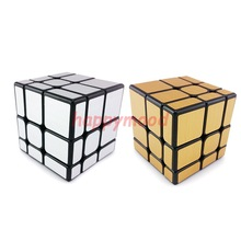 Black Gold Silver Mirror Smoothly Professional Speed Magic Cube Puzzle Twist Classic Brain Game MF 3x3x3(China)