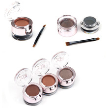 3 In 1 High Quality Cosmetic Eye Makeup Eyebrow Powder Shadow/Palette Waterproof + Eyeliner Gel + Brush M02104