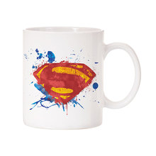 Superman mugs Office porcelain Coffee Mugs cups ceramic tea cups home decal(China)