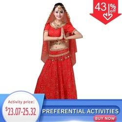 5 шт./комплект, комплект женской одежды для индийских танцев