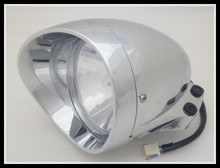 "6 3/4 ""Motorcycle Chrome Bullet Koplamp voor Harley Chopper Touring Gratis verzending(China)"