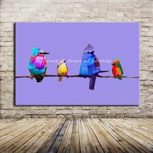 100% Hand Painted Animals Oil Painting On Canvas Modern Abstract Bird Paintings Wall Art Pictures For Hotel Decoration No Framed