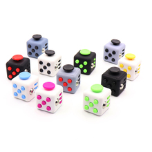 Size 3.3*3.3cm Fidget Cube Toy A Viny Desk Spin Anti-stress Fidget Toy Gifts For Children Stress Wheel(China)
