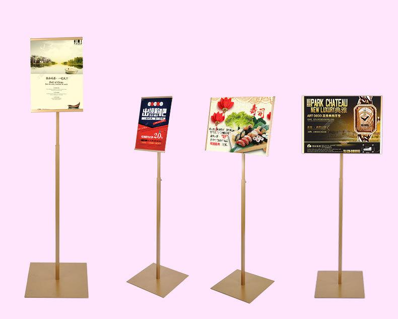 WQE Poster Stand Adjustable Poster Frame Aluminum Alloy Horizontal and Vertical Adjustable Floor Display Advertising Frame Sign Frame Poster Stand Floor Standing Size : A3