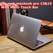 Transparent Crystal Case For Apple New Macbook Pro 13 15 Retina 2016 2017 A1706 A1707 A1708 With Multi Touch Bar PC Clear Cover