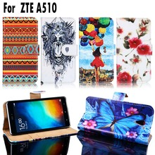 PU Leather Cell Phone Cases For ZTE Blade A510 A 510 Housing Covers Wallet Card Slot Bags Shell For ZTE Blade A510 Case Cover