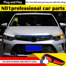 DXDX Car Styling LED DRL for Camry V55 2014-2015 New Camry Eye Brow Light LED External Lamp Signal Parking Accessories