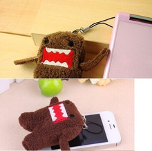 100pcs/lot bulk wholesale DOMO Mini 4*3CM Plush Stuffed TOY DOLL BAG , String Rope Key Chain Plush TOY(China)