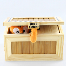 2016 Tricky Fashion Cartoon Tiger Useless Box Creative Adult Gifts Gags And Practical Jokes Funny Box Toys For Friends and Kids(China)