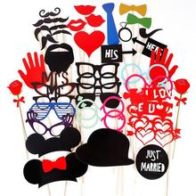 43 pcs/ set Wedding Photo Booth Props Party Decorations Supplies Mask Mustache For Fun Favors Photobooth Photocall