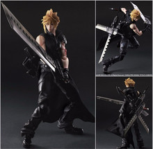 "Hot Action 25cm Anime Cloud Strife Final Fantasy VII 7 Advent Figure PVC 10"" Collection Hobby Model Doll Best Gift Cosplay Toy"